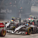 Start of the 2014 Monaco F1 GP backfield into 1st corner