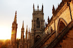 York Minster is a cathedral in York, England. It's one of the world's most magnificent cathedrals.