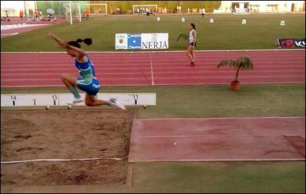 Sandra Rodriguez Ramos 4ª en Triple salto