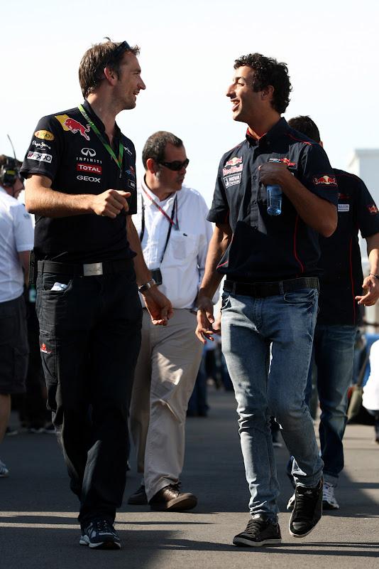 Педро де ла Роса и Даниэль Риккардо на Гран-при Канады 2011