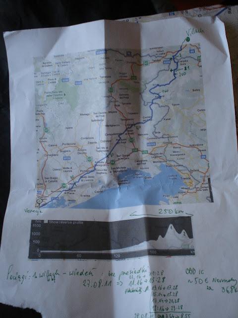 trasa do Villach przez słowenię...  będą górki..