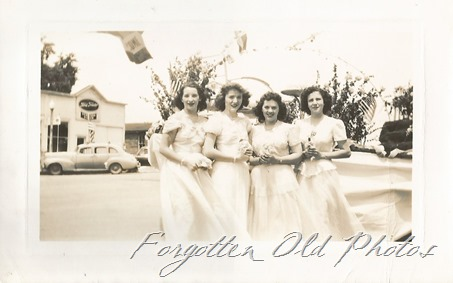 Group of gals in parade Grand R Gargae sales 1947