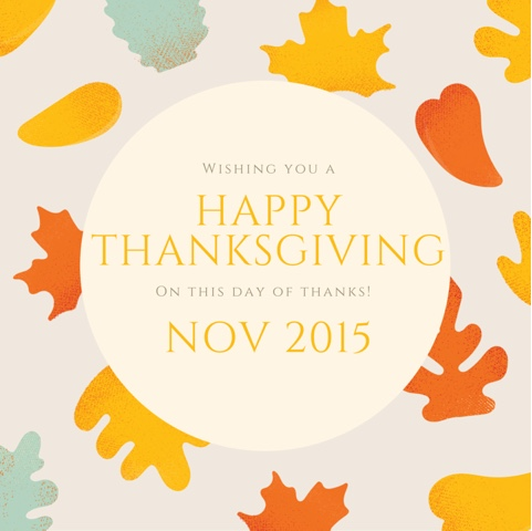 thanksgiving message Cordier Events