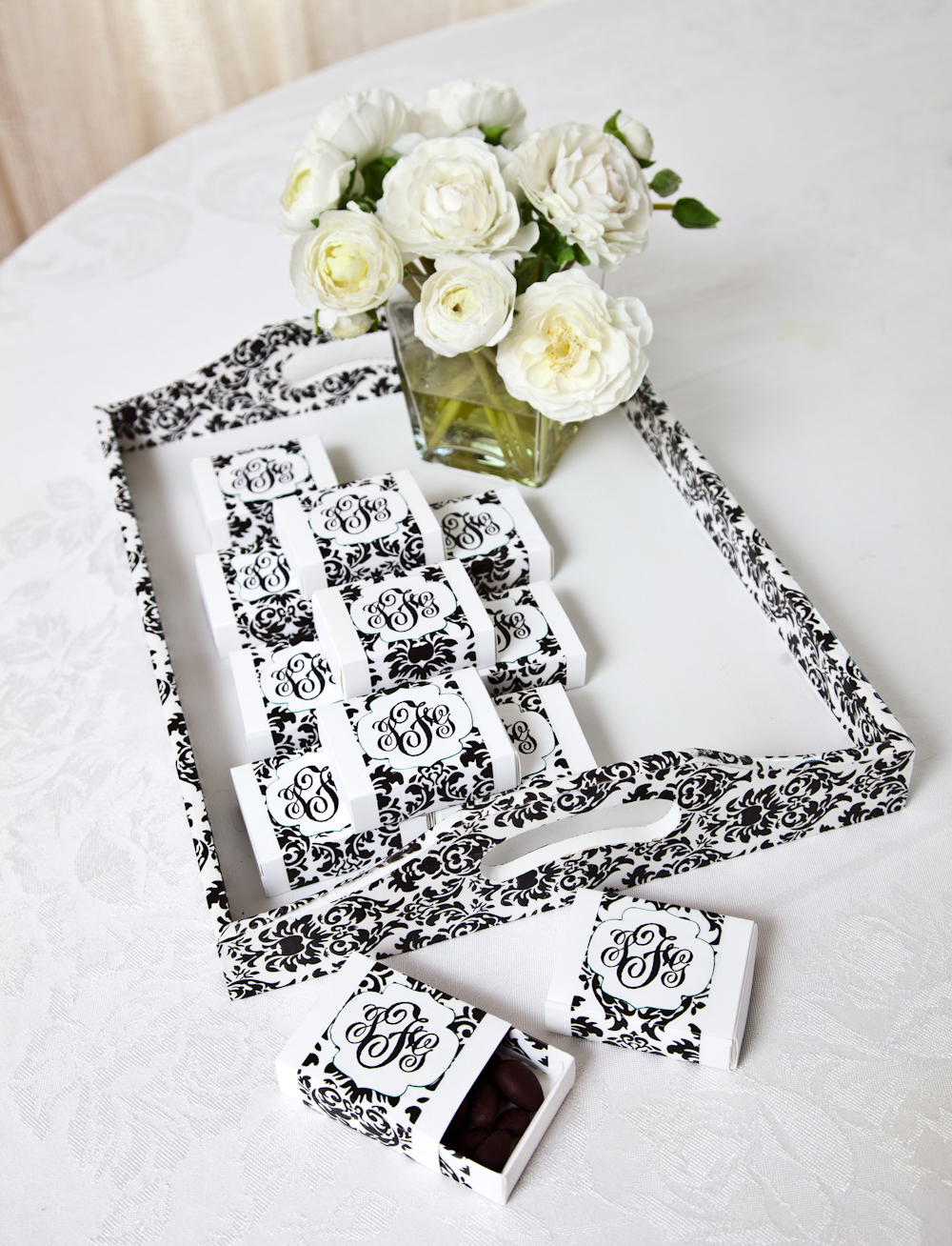 the Black Damask wedding