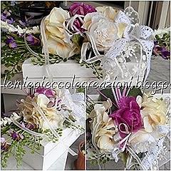 scatola rettangolare con fiori