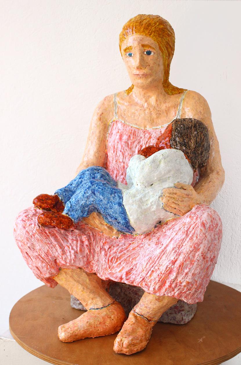 mare de déu amb el nen dormint (beeld van frank waaldijk, linksvoor)