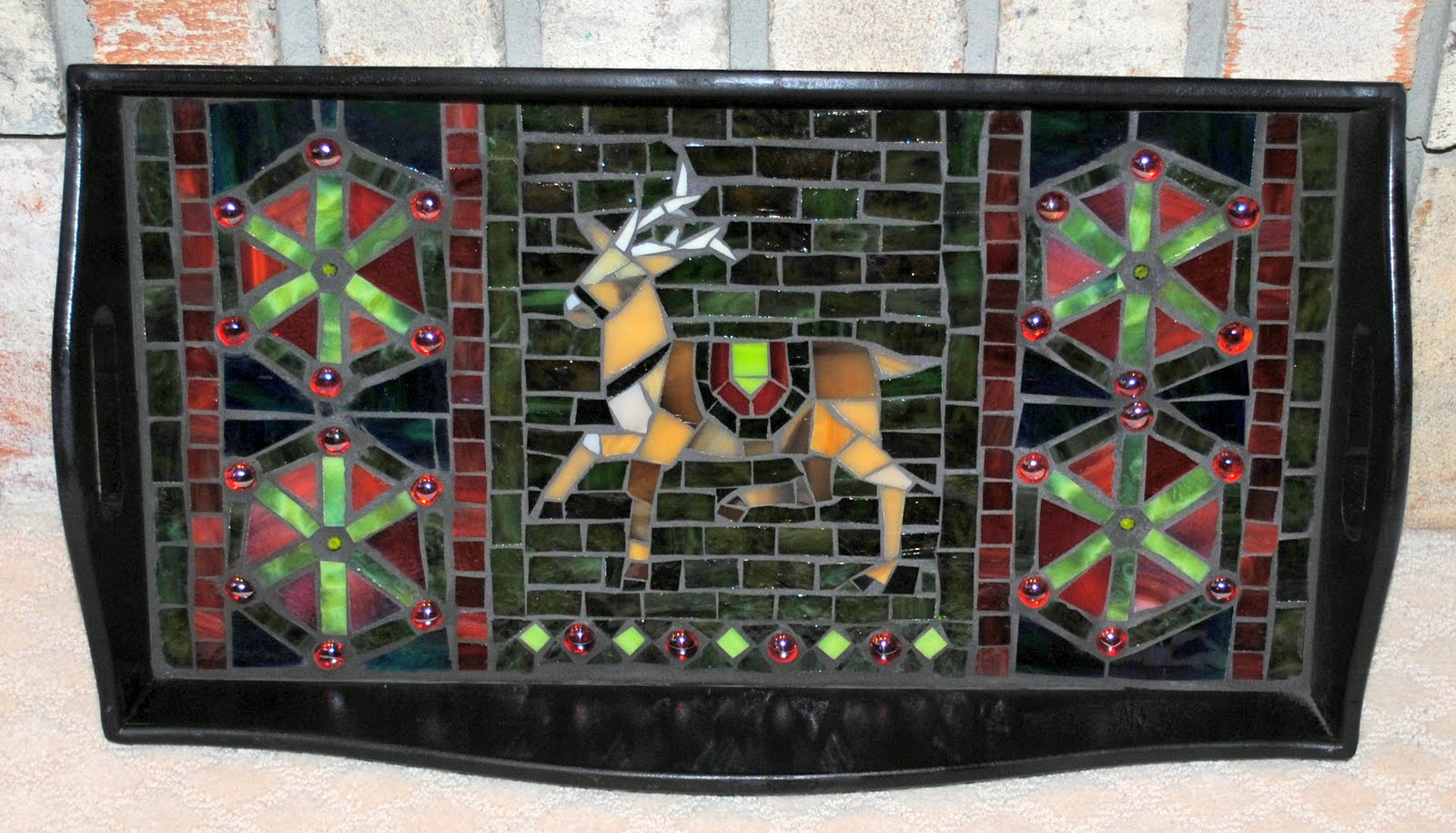 MOT3023 Blitzen Mosaic Serving Tray