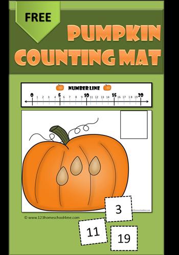 Pumpkin-Counting-Mat-Preschool-Kindergarten-Numbers-Fall