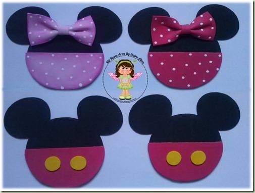 Aplique Minnie e Mickey