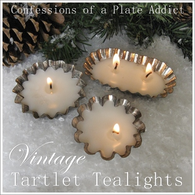 CONFESSIONS OF A PLATE ADDICT DIY Vintage Tartlet Tealights