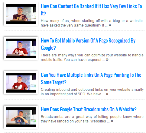 YouTube Featured Thumbnails in blog list