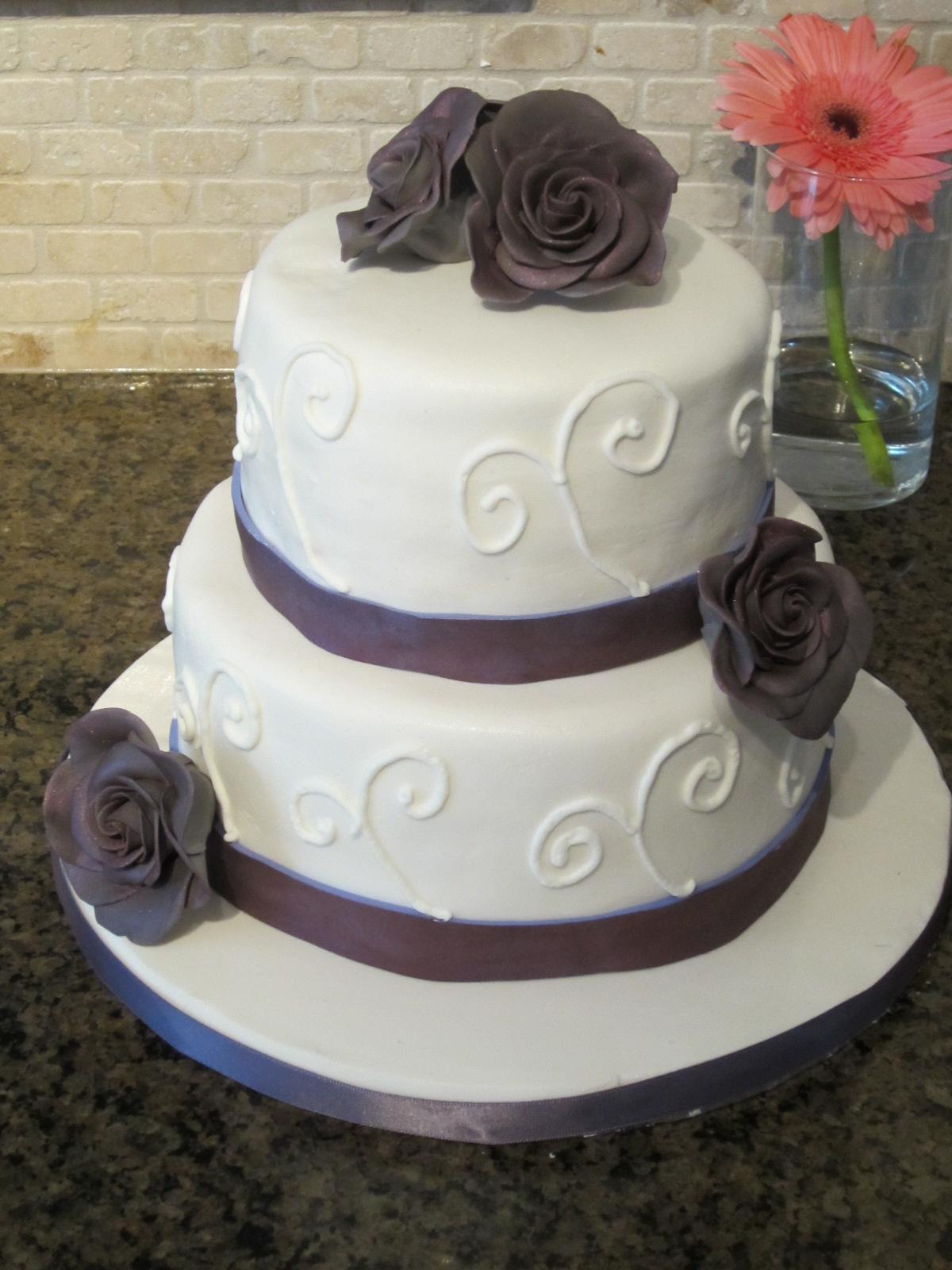 Laniyah s blog purple fondant 2 tier wedding