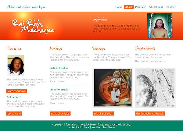 artist's website design