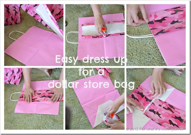 dress up a dollar store bag