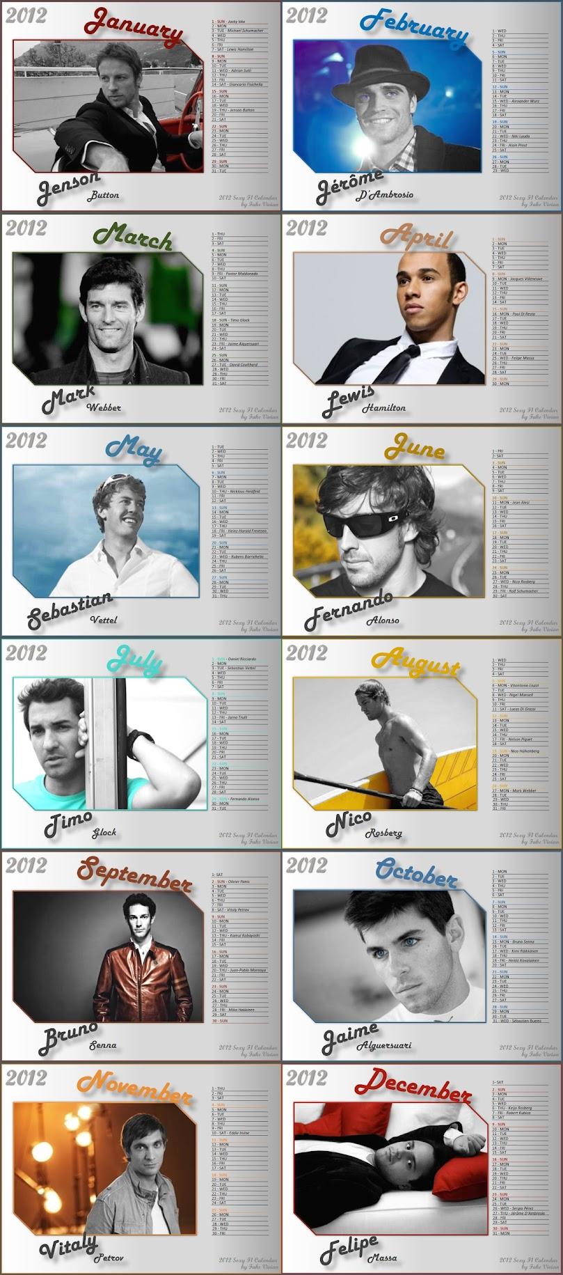 календарь пилотов на 2012 год от FakeVivian