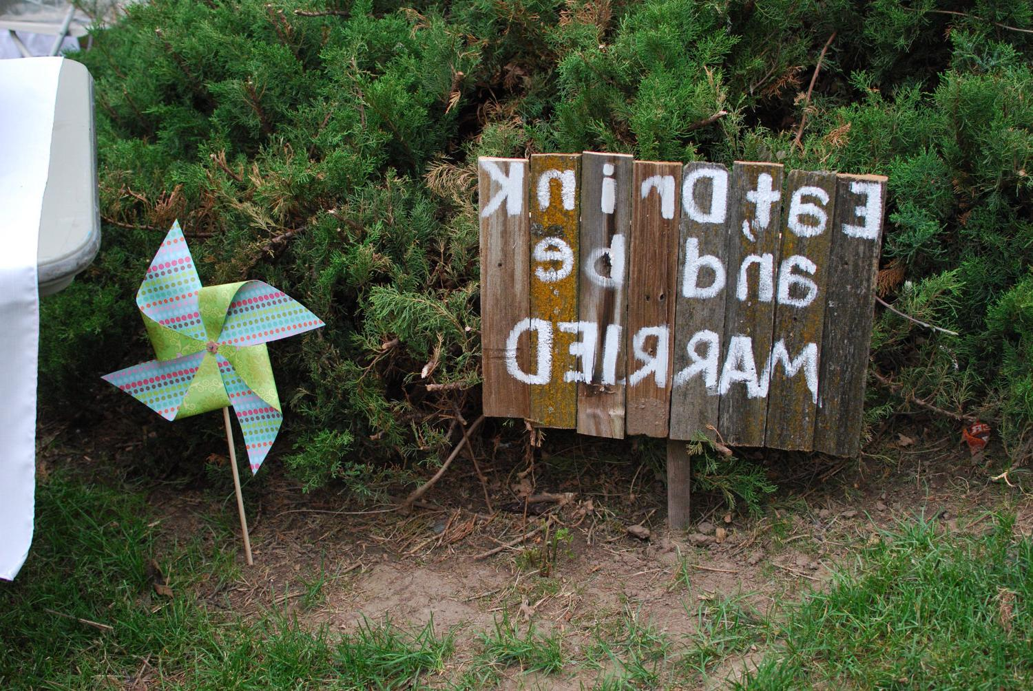Rustic Wedding Sign - Eat.