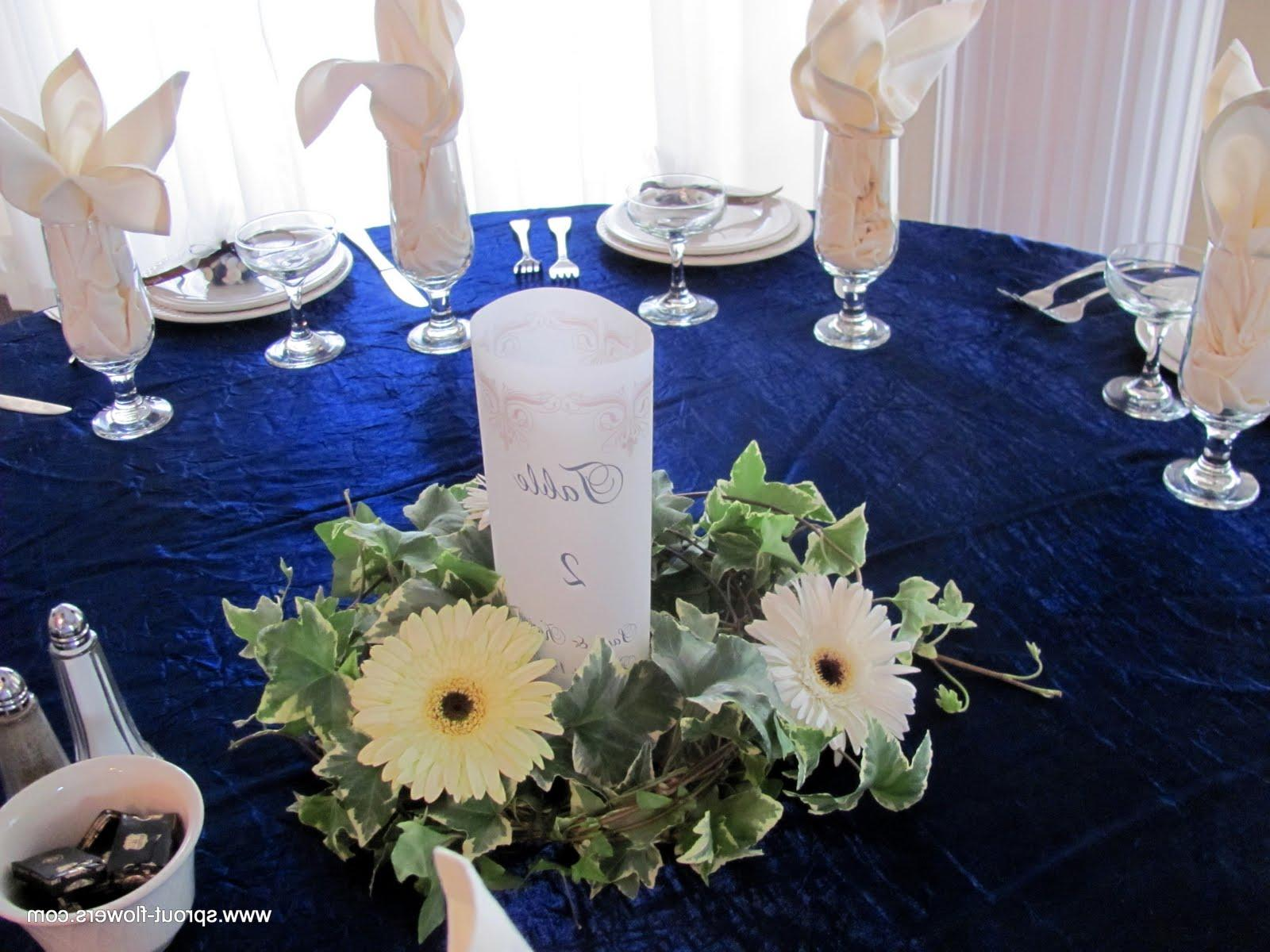 the centerpieces were
