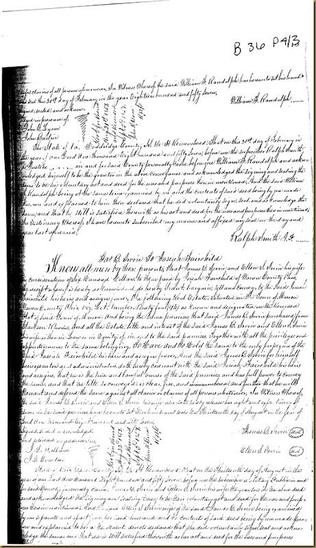 James B. Irwin and his wife, Ellen S. Irwin convey land to Josiah Fairchild1857