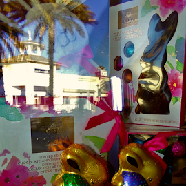 Easter Bunny Window Shopping by Cheryl Beaudoin - Public Holidays Easter ( godiva, chocolate, easter, bunny, window, shopping,  )