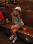 Hannah sitting in the pew in the Ryman Auditorium in Nashville TN 09042011