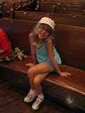 Hannah sitting in the pew in the Ryman Auditorium in Nashville TN 09042011