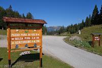 Auf dem Passo di Pura (1426m). Weiter zum Lago di Sauris.