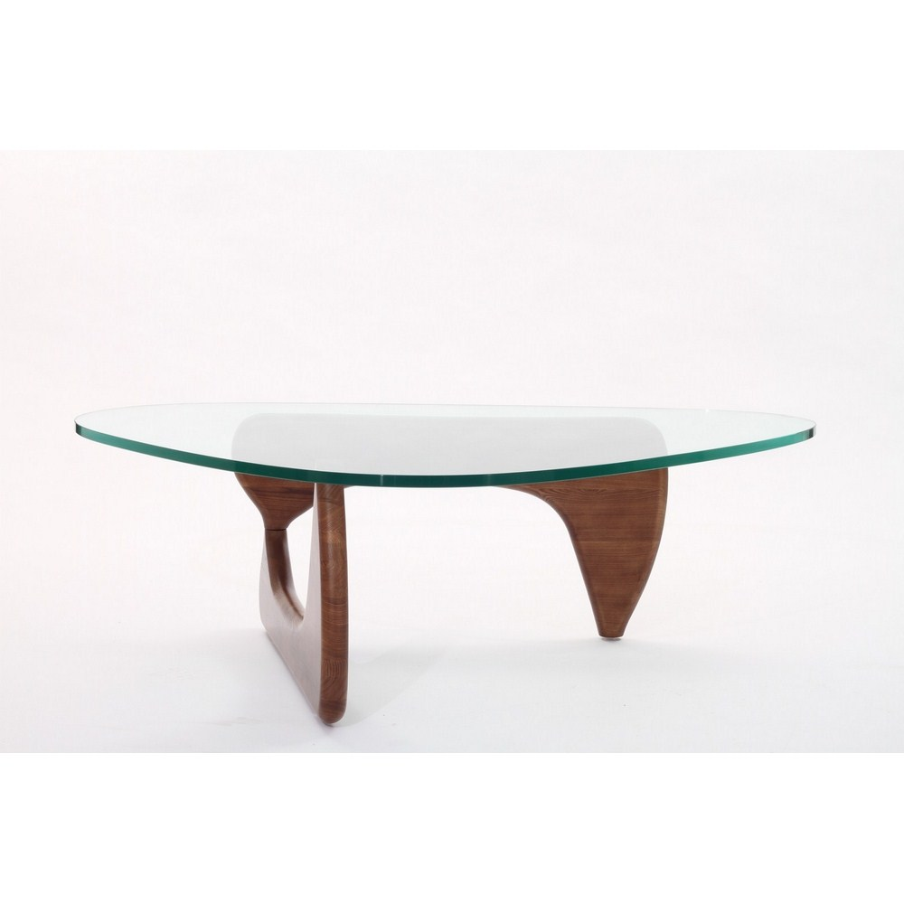 Isamu Noguchi Coffee Table With Light Walnut Base Ebay