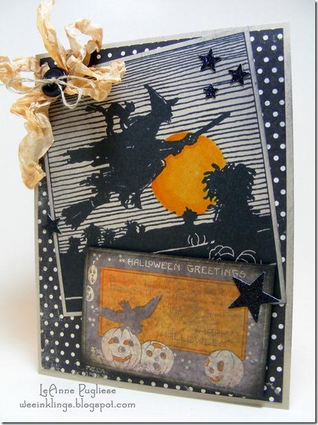 LeAnne Pugliese WeeInklings Spooky Vintage Witch Halloween Stampin