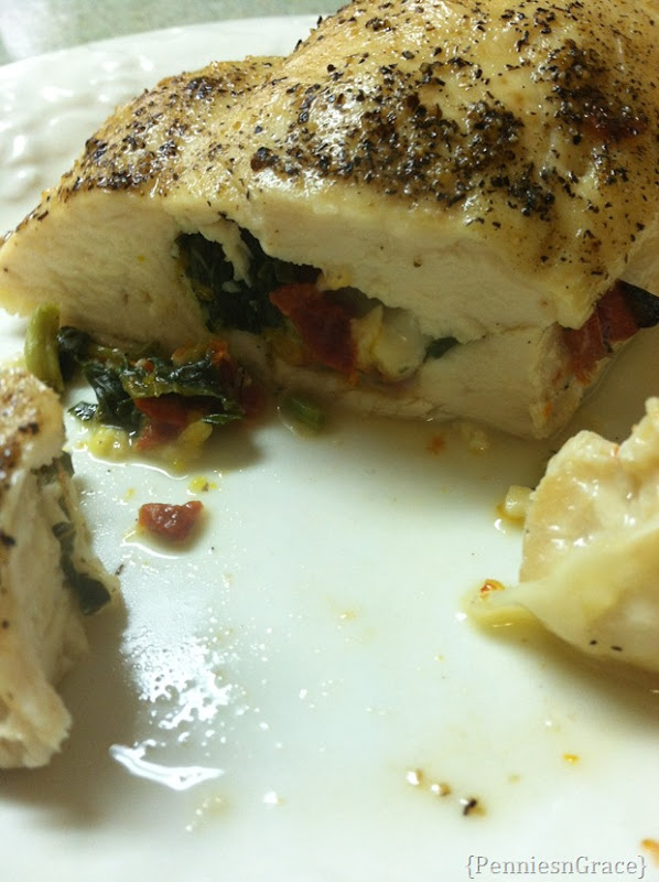 Mediterrenean stuffed chicken