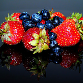 HEALTHY FRUITS by Wojtylak Maria - Food & Drink Fruits & Vegetables ( red, fruits, healthy, blueberries, juicy, black, strawberries, food )