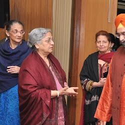 A little query about Mrs Inderjit Kaur before the start of the function