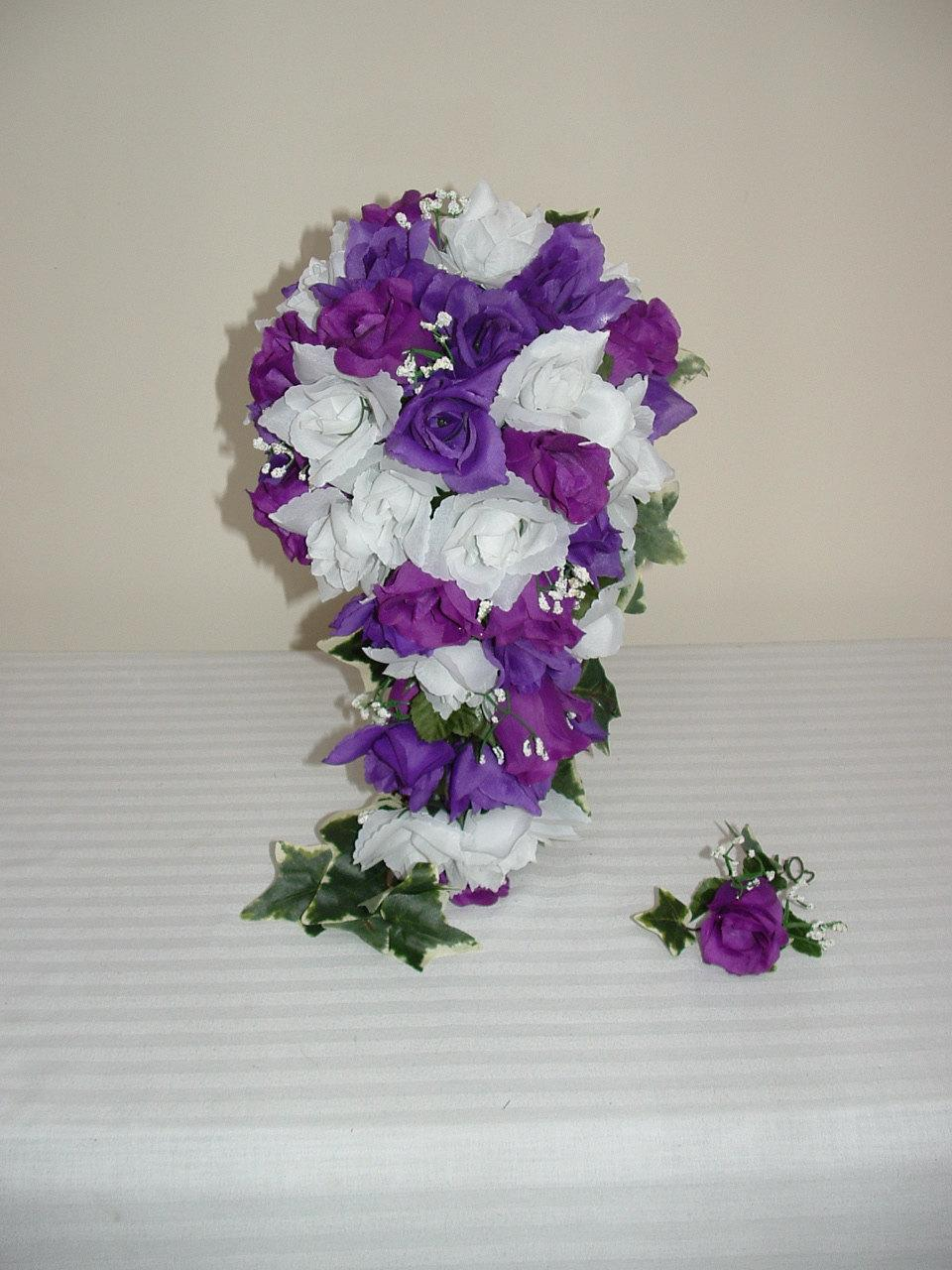 Cascading Purple and White