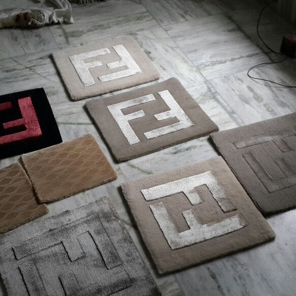Different variants of wool viscose mix custom rugs manufactured in india
