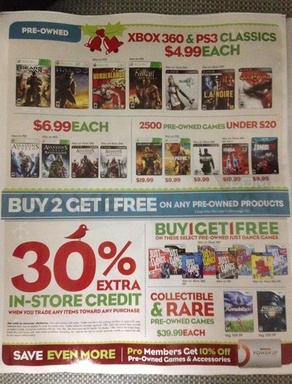 Lộ bảng giá khuyến mãi của GameStop dịp Black Friday 10