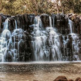 Rochester Falls, Mauritius by Katherine Rynor - Landscapes Waterscapes ( water, rochester falls, mauritius, waterfall, rocks )
