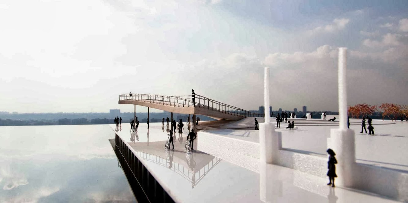 Brooklyn Bridge Park Pier 6 Viewing Platform by