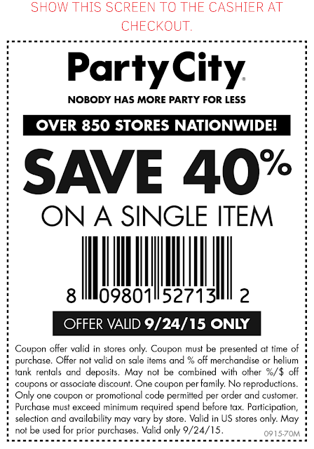 Partycity coupon code