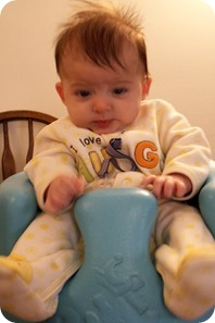 Elaine 14 Weeks Bumbo with rattle