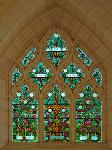 Glas-in-lood raam in de Christ Church