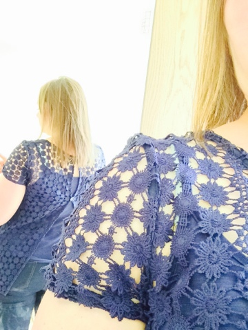 George Asda Button Back Lace Top #georgeousdresses