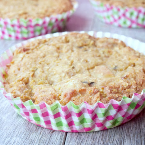 Chunky Applesauce Zucchini Oat Cakes