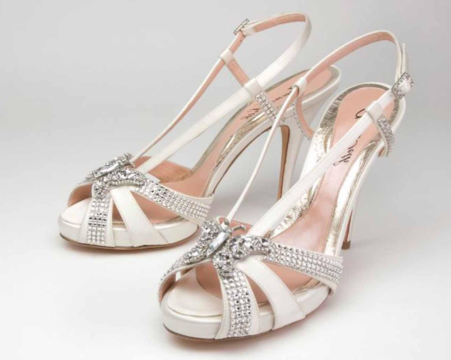 diamante vintage wedding shoes
