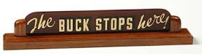 Truman's famous sign: The Buck Stops Here