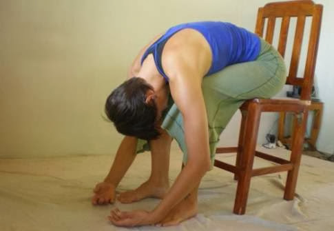 Office Yoga Moves For A Better Posture - The Forward Fold