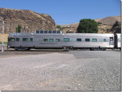 IMG_7759 Chicago, Burlington & Quincy 'California Zephyr' Dome Lounge-Observation 'Silver Solarium' in Wishram, Washington on July 3, 2009