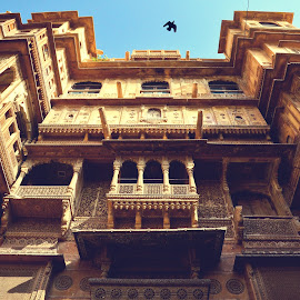 Patwon Ki Haveliyan - A Glimpse by Atin Saha - Buildings & Architecture Public & Historical ( palace, famous, haveli, town, built, old, exterior, column, building, structure, jaisalmer, steeple, place, arch, ki, rajasthan, architecture, patwon )