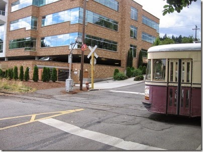 IMG_8447 Willamette Shore Trolley at Nebraska Street in Portland, Oregon on August 19, 2007