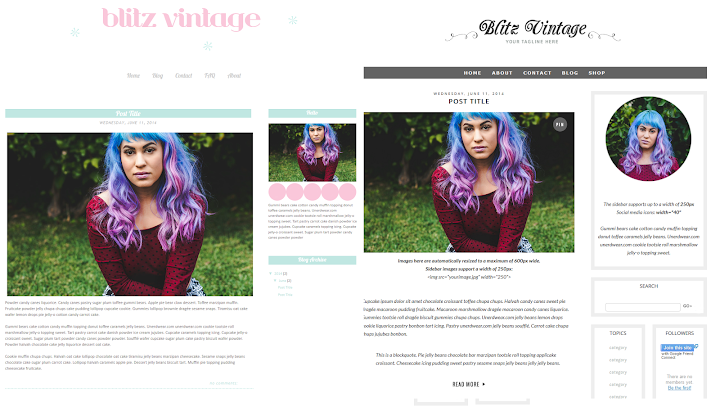 Minty Fox Designs Blogger Templates