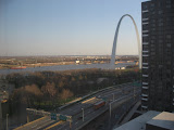 The St Louis Arch from our hotel room window 03202011f