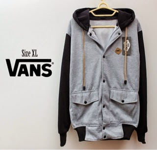 Jaket Vans Baseball Grey Black